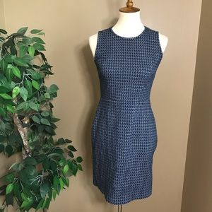 Banana Republic Blue Patterned Sheath Dress